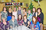 Colman's Angles: The staff of Quirke's Newsagents Cahersiveen held their Xmas party in the Ring of Kerry Hotel on Friday night last pictured here front l-r; Roz Prendergast, Mary McGill , Elizabeth Duda, Trish Walsh, Charlotte Sharpe , back l-r Mary Clifford, Ashley Sheehan, Aoife Musgrave, Colman Quirke, Clodagh Musgrave, Gerldine Keating, Sine?ad O'Sullivan & Sheila Coffey.