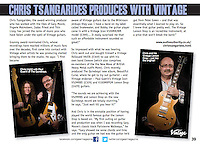 Paul Guerin (Quireboys, Down 'n Outz) and Chris Tsangarides in Gear Magazine http://www.jhs.co.uk/gearmagazine/index.html
