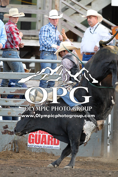 20 Aug 2014:  Tim Bingham scored a 84 while competing in the first round of the Seminole Hard Rock Extreme Bulls competition at the Kitsap County Stampede in Bremerton, Washington.