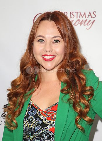 "LOS ANGELES, CA - NOVEMBER 7: Karenssa LeGear, at Premiere of Lifetime's ""Christmas Harmony"" at Harmony Gold Theatre in Los Angeles, California on November 7, 2018. Credit: Faye Sadou/MediaPunch"