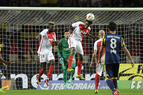 03.08.2016. Monaco, France. UEFA Champions league qualifying round, AS Monaco versus Fenerbahce.  Jemerson (mon)wins a clearing header
