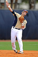 4 March 2012:  FIU infielder Mike Martinez (40) throws to first base as the FIU Golden Panthers defeated the Brown University Bears, 8-3, at University Park Stadium in Miami, Florida.