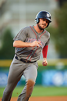 Lehigh Valley IronPigs designated hitter Brock Stassi (10) running the bases during a game against the Buffalo Bisons on August 29, 2016 at Coca-Cola Field in Buffalo, New York.  Buffalo defeated Lehigh Valley 3-2.  (Mike Janes/Four Seam Images)