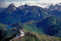 Alaska, Baranoff Island, mtns & lake