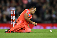 10th January 2020; Marvel Stadium, Melbourne, Victoria, Australia; Big Bash League Cricket, Melbourne Renegades versus Melbourne Stars; Samit Patel of the Renegades fields the ball - Editorial Use