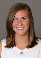 STANFORD, CA - SEPTEMBER 28:  Jeanette Pohlen of the Stanford Cardinal women's basketball team poses for a headshot on September 28, 2009 in Stanford, California.