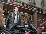 Scott Farmer with his bike at Kennedys 60th Anniversary...Photo NEWSFILE/Jenny Matthews.(Photo credit should read Jenny Matthews/NEWSFILE)....This Picture has been sent you under the condtions enclosed by:.Newsfile Ltd..The Studio,.Millmount Abbey,.Drogheda,.Co Meath..Ireland..Tel: +353(0)41-9871240.Fax: +353(0)41-9871260.GSM: +353(0)86-2500958.email: pictures@newsfile.ie.www.newsfile.ie.FTP: 193.120.102.198.