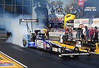 Mar. 13, 2011; Gainesville, FL, USA; NHRA top fuel dragster driver Antron Brown during the Gatornationals at Gainesville Raceway. Mandatory Credit: Mark J. Rebilas-
