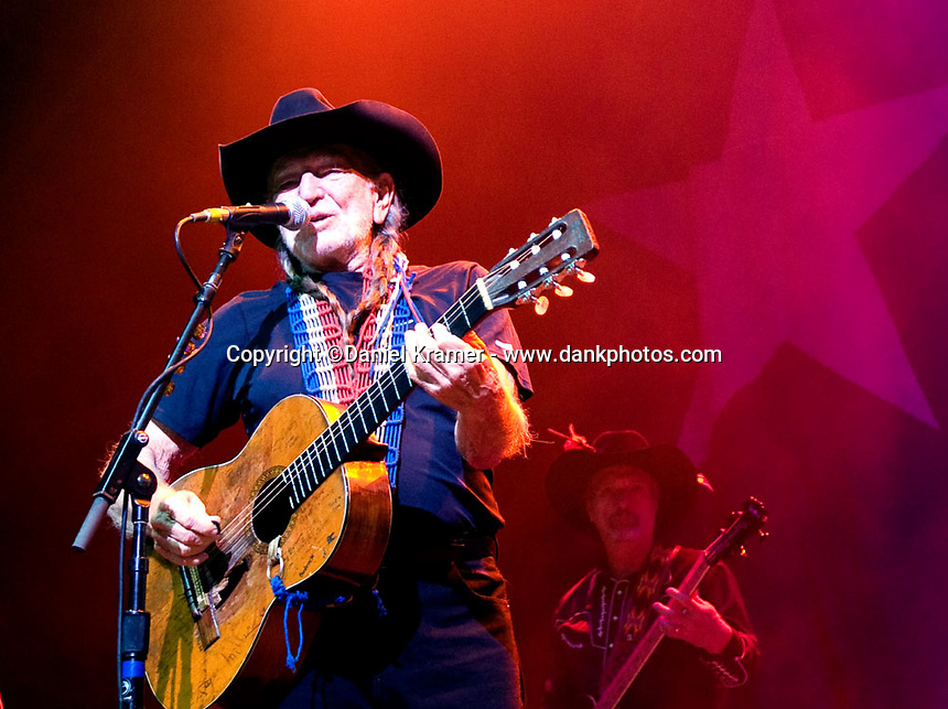 Willie Nelson performs at the House of Blues in Houston, Texas on October 31, 2008.