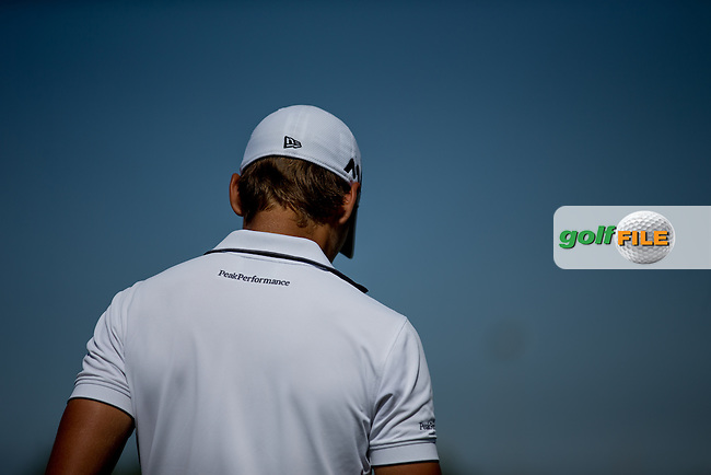 Joakim Lagergren (SWE) during the preview ahead of the Omega Dubai Desert Classic, Emirates Golf Club, Dubai,  United Arab Emirates. 31/01/2017<br /> Picture: Golffile | Fran Caffrey<br /> <br /> <br /> All photo usage must carry mandatory copyright credit (&copy; Golffile | Fran Caffrey)