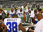 Dallas Cowboys defensive end Jason Hatcher (97), Dallas Cowboys linebacker Anthony Spencer (93) and Dallas Cowboys defensive end Kenyon Coleman (99) in action during the pre- season game between the Miami Dolphins and the Dallas Cowboys at the Cowboys Stadium in Arlington, Texas. Dallas defeats Miami 30 to 13...