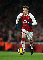 Mesut Ozil of Arsenal in action during the Premier League match between Arsenal and Newcastle United at the Emirates Stadium, London, England on 16 December 2017. Photo by Vince  Mignott / PRiME Media Images.