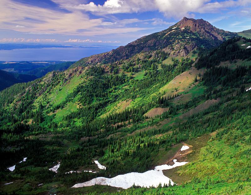 Mt. Angeles and Strait of Juan de Fuca. Olympic National Park, Washington