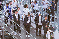 Real Madrid Cristiano Ronaldo dancing during the celebration of the 12th UEFA Championship won by Real Madrid  in Madrid, June 04, 2017. Spain.<br /> Foto ALTERPHOTOS/BorjaB.Hojas/Insidefoto