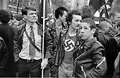 Neo-nazi British Movement demonstration, Marble Arch, London.