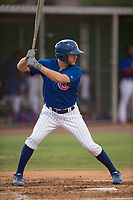 AZL Cubs 1 right fielder Jamie Galazin (29) at bat during an Arizona League game against the AZL Padres 1 at Sloan Park on July 5, 2018 in Mesa, Arizona. The AZL Cubs 1 defeated the AZL Padres 1 3-1. (Zachary Lucy/Four Seam Images)