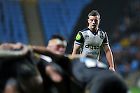 George Ford of Bath Rugby watches a scrum. European Rugby Champions Cup match, between Wasps and Bath Rugby on December 13, 2015 at the Ricoh Arena in Coventry, England. Photo by: Patrick Khachfe / Onside Images