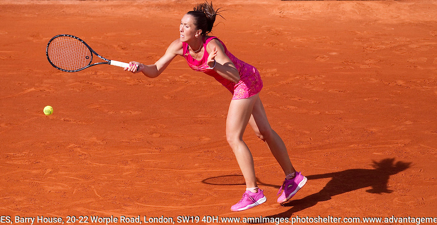 Jelena JANKOVIC (SRB) (10) against Francesca SCHIAVONE (ITA) (5) in the 4th round of the women's singles. Francesca Schiavone beat Jelena Jankovic 6-3 2-6 6-4. .Tennis - Grand Slam - French Open - Roland Garros - Paris - Day 8 -  Sun May 29th 2011..© AMN Images, Barry House, 20-22 Worple Road, London, SW19 4DH, UK..+44 208 947 0100.www.amnimages.photoshelter.com.www.advantagemedianetwork.com.