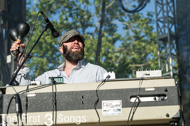 Alex Maas of The Black Angels performs at the 2nd Annual BottleRock Napa Festival at Napa Valley Expo in Napa, California.