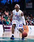 Södertälje 2013-02-23 Basket Basketligan , Södertälje Kings - Sundsvall Dragons :  .Sundsvall 15 Michael Cuffee i aktion.(Byline: Foto: Kenta Jönsson) Nyckelord:  porträtt portrait