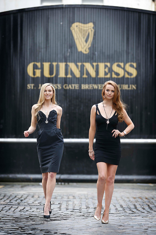 No Repro Fee.<br /> Models Sarah Morrissey and Aoife Walsh pictured at the launch of the GUINNESS&reg; by Newbridge Silverware Collection at the GUINNESS&reg; STOREHOUSE.  This new and exciting collaboration sees the coming together of two iconic brands to produce a carefully created premium collection of jewellery, homeware and gifts that reflect the rich history of crafting expertise and excellence that is synonymous with both companies. The collection is available now in selected stockists nationwide and online at <br /> www.newbridgesilverware.com/guinness.   Pic. Robbie Reynolds