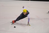 SHORTTRACK: HEERENVEEN: IJsstadion Thialf, 30-01-2015, StarClass 5 (NC-2) Europa Cup, Jeugdwedstrijd (t/m 16 jaar), Nathan JANSEN (#140), ©foto Martin de Jong