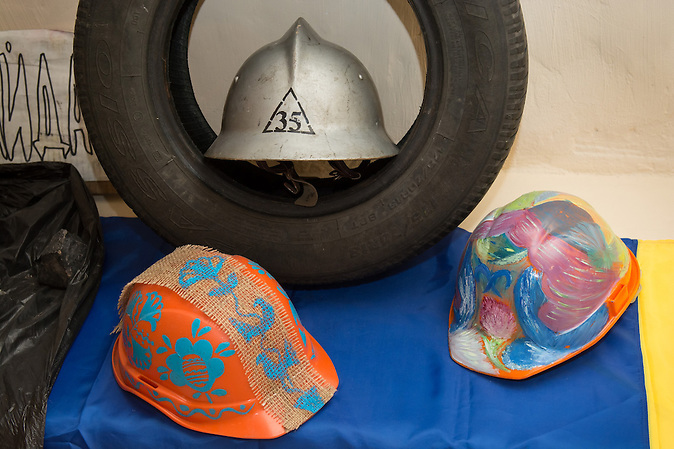 Helme vom Maidan / Helmets from Maidan