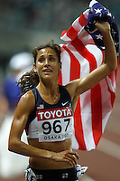 Kara Goucher placed 3rd. in the 10,000m run with a time of 32:02.05 at the 11th. IAAF World Championship being held in Osaka, Japan. The race was contested Saturday evening August 25, 2007. Photo by Errol Anderson, The Sporting Image.