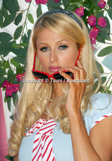 Paris Hilton - <br /> The Launched of the BANDIT in a Privat Home in Malibu<br /> <br /> headshot<br /> eye contact<br /> sun glass