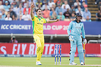 Pat Cummins (Australia) appeals for caught behind against Jason Roy during Australia vs England, ICC World Cup Semi-Final Cricket at Edgbaston Stadium on 11th July 2019