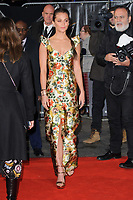 Alicia Vikander at the &quot;Tomb Raider&quot; European premiere at the Vue Leicester Square, London, UK. <br /> 06 March  2018<br /> Picture: Steve Vas/Featureflash/SilverHub 0208 004 5359 sales@silverhubmedia.com