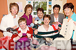 GET KNITTING: Members of Moyvane ICA who are involved in a major knitting project which will see them knit clothes and blankets for children in Chernobyl..Front L/r. Eileen O'Connor, Mary Lynch..Back L/r. Anne Fitzmaurice, Noreen McEvoy, Jill McCarthy, Kathleen Fitzmaurice and Noreen Roche..