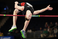Dusty Jonas jumps their men's high jump of the U.S open track & Field in the madison Square Garden in New York, United States. 28/01/2012. Photo by Kena Betancur / VIEWpress...