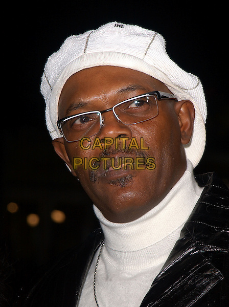 "SAMUEL L. JACKSON.Paramount Pictures' L.A. Premiere of ""Coach Carter"" held at The Grauman's Chinese Theatre in Hollywood, California .January 13th, 2005 .headshot, portrait hat glasses mustache facial hair turtle neck polo neck.www.capitalpictures.com.sales@capitalpictures.com.Supplied By Capital PIctures"