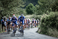 GC leader Remco Evenepoel (BEL/Deceuninck Quick Step) in front of the peloton during the passage up the infamous La Redoute<br /> <br /> Baloise Belgium Tour 2019<br /> Stage 4: Seraing – Seraing 151.1km<br /> ©kramon