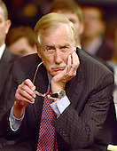 United States Senator Angus King (Independent of Maine) attends the hearings to examine Iran nuclear agreement review on Capitol Hill in Washington, DC on Thursday, July 23, 2015.<br /> Credit: Ron Sachs / CNP