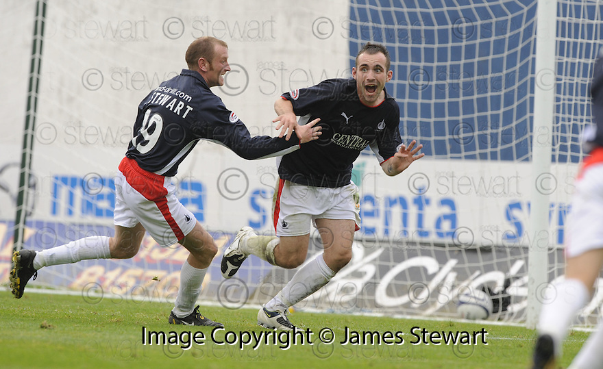30/08/2008  Copyright Pic: James Stewart.File Name : sct_jspa09_falkirk_v_ict.MARK STEWART CELEBRATES AFTER HE SCORES FALKIRK'S GOAL.James Stewart Photo Agency 19 Carronlea Drive, Falkirk. FK2 8DN      Vat Reg No. 607 6932 25.James Stewart Photo Agency 19 Carronlea Drive, Falkirk. FK2 8DN      Vat Reg No. 607 6932 25.Studio      : +44 (0)1324 611191 .Mobile      : +44 (0)7721 416997.E-mail  :  jim@jspa.co.uk.If you require further information then contact Jim Stewart on any of the numbers above........