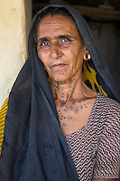Lilu - A traditional Rabari woman from the Little Rann of Kutch, Gujarat, India