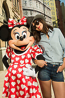 Katie Holmes with Minnie Mouse at Walt Disney World Resort  - Florida