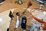 GLENDALE, AZ - APRIL 03: Tony Bradley #5 of the North Carolina Tar Heels shoots the ball over Killian Tillie #33 of the Gonzaga Bulldogs during the 2017 NCAA Men's Final Four National Championship game at University of Phoenix Stadium on April 3, 2017 in Glendale, Arizona.  (Photo by Chris Steppig/NCAA Photos via Getty Images)