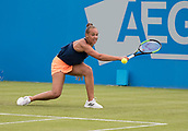 June 10th 2017,  Nottingham, England; WTA Aegon Nottingham Open Tennis Tournament day 1; backhand from Freya Christie of Great Britain who lost in two sets to Tereza Martincova of The Czech Republic