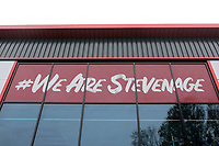 We Are Stevenage signage during Stevenage vs Peterborough United, Emirates FA Cup Football at the Lamex Stadium on 9th November 2019