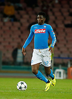 Amadou Diawara during the Champions League Group  soccer match between SSC Napoli and   Dinamo Kiev  at the San Paolo  Stadium inNaples November 24, 2016