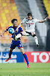 Suwon Forward Park Gidong (L) in action against Kawasaki Defender Tatsuki Nara (R) during the AFC Champions League 2017 Group G match between Suwon Samsung Bluewings (KOR) vs Kawasaki Frontale (JPN) at the Suwon World Cup Stadium on 25 April 2017, in Suwon, South Korea. Photo by Yu Chun Christopher Wong / Power Sport Images