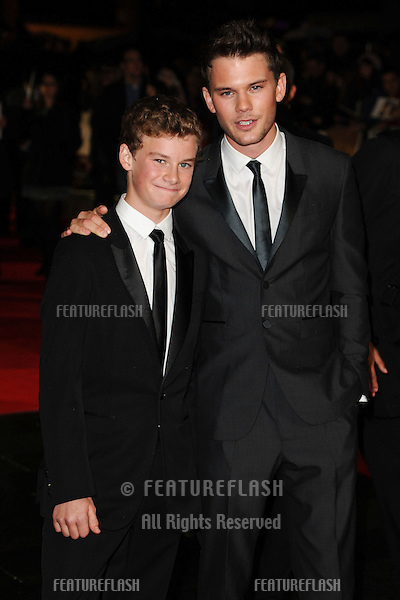 "Toby and Jeremy Irvine at the premiere for ""Great Expectations"" being shown as the closing film of the London Film Festival 2012, Odeon Leicester Square, London. 21/10/2012 Picture by: Steve Vas / Featureflash"
