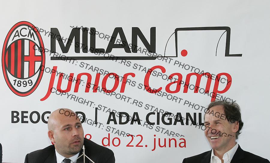 Fudbal.Promocija fudbalsko kampa AC MIlan, Italy.Franco Baresi, right.Belgrade, 11.05.2012..foto: Srdjan Stevanovic/Starsportphoto ©