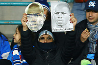 "A supporter of Napoli shows a picture of Kalidou Koulibaly with the word ""we are all Kalidou"" . <br /> The player was victim of racist chants by Inter fans during the last matchday in Milano. <br /> Napoli 29-12-2018 Stadio San Paolo Football Serie A 2018/2019 Napoli - Bologna<br /> Foto Stringer / Insidefoto"