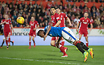 08.05.2018 Aberdeen v Rangers: Alfredo Morelos diving heasder
