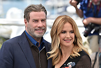 CANNES, FRANCE - MAY 15: John Travolta and wife Kelly Preston at photocall for 'Rendezvous With John Travolta - Gotti' during the 71st annual Cannes Film Festival at Palais des Festivals on May 15, 2018 in Cannes, France. <br /> CAP/PL<br /> &copy;Phil Loftus/Capital Pictures