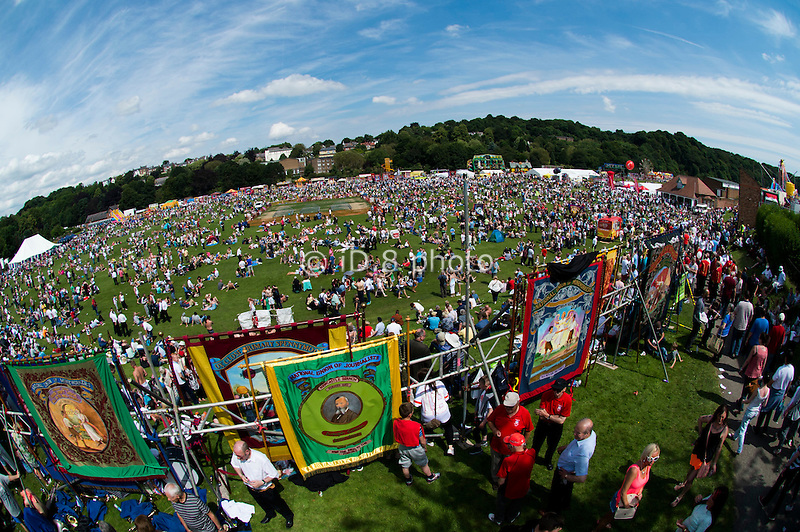 Thousands attend the 130th Miners' Gala in Durham